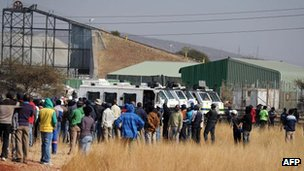 Several hundred workers down tools at the Royal Bafokeng Platinum Mine on Wednesday in Rustenburg, in a dispute over pay