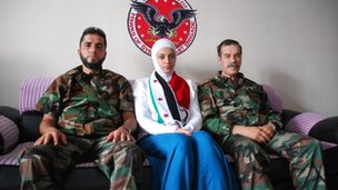 Alaa Morely with Said Tarboush (left) and an FSA commander