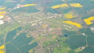 Aerial view of Alconbury site