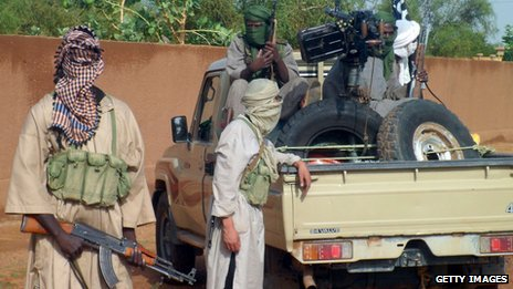 Islamist fighters in Kidal in northern Mali (7 August 2012)