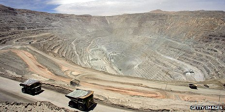 Chuquicamata copper mine in Chile