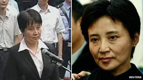 Gu Kailai pictured in 2012 (L) and 2007 (R)