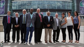 All five players were represented at the announcement at Wembley on Thursday