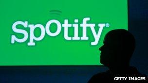Silhouette of Spotify founder Daniel Ek
