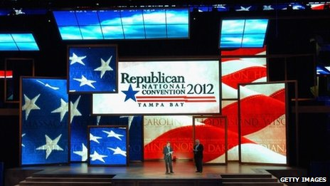 The venue for the Republican National Convention in Tampa, Florida, on 20 August 2012