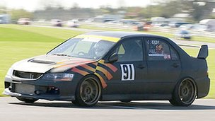 Laurence Kilby racing in the 2009 Castle Combe Saloon Car Championship