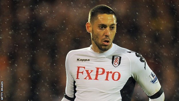 Fulham forward Clint Dempsey