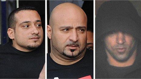 Omar Sami Qaradhi, Motaz Al-Junadi and Faisal Hammash