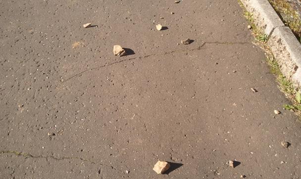 stones on road