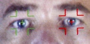 Biometrics scanning of eyes