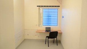 A cell at Ila prison equipped as a study (undated photo released by prison)