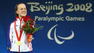 Ellie Simmonds won two Paralympic gold medals at the age of 13, at the Beijing Games