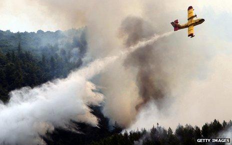 Wild fires in Greece