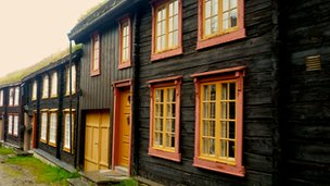 An old wooden house in Roros, Norway