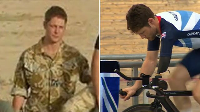 John-Allan Butterworth in his days with the RAF and now as a Paralympic cyclist