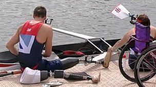 Paralympic rowers