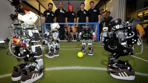 Plymouth University's robots at the FIRA International RoboWorld Cup