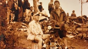 "Joe Martinez and Tony Scott during the making of ""Man on Fire""."