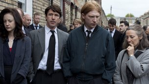 Andrea Riseborough, Aidan Gillen, Domhnall Gleeson and Brid Brennan in Shadow Dancer 