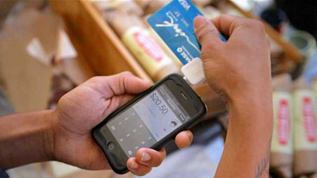A smartphone card swipe device