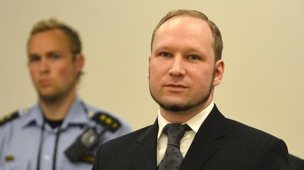 Anders Behring Breivik in court for sentencing (24 August)