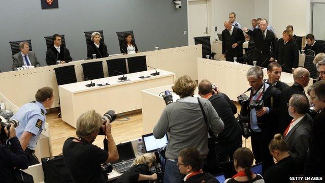 Norway court room
