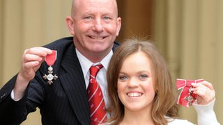 Ellie Simmonds with her coach Billy Pye