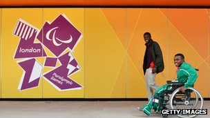 Paralympians at Olympic village