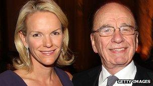 Elisabeth Murdoch and father Rupert