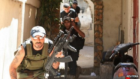 Sunni gunmen in Tripoli, Lebanon (24 August 2012)