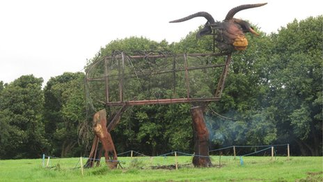 Loaghtan ram sculpture