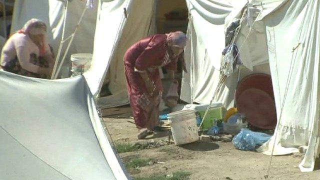 A refugee camp