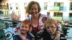 Jane Belshaw with Connor and Haydon