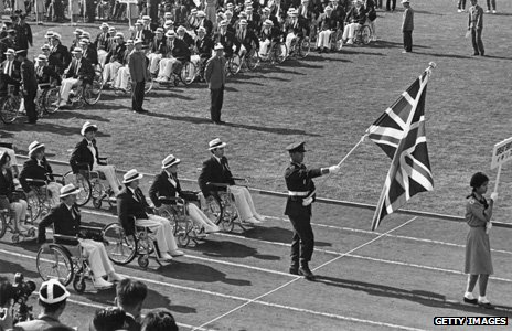 British team at Paralympics in 1964