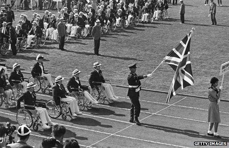 British team at Paralympics in 1964