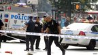 Scene of shooting in New York City. 24 Aug 2012