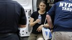 Person identified as victim at scene of shooting in New York. 24 Aug 2012