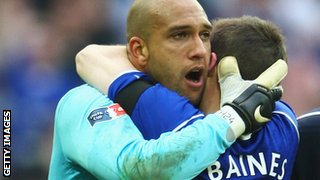 Tim Howard and Leighton Baines
