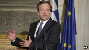 Antonis Samaras is under pressure from the Greek public to win concessions from Europe