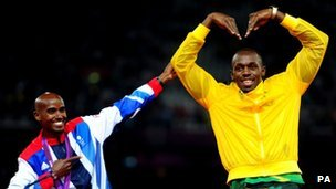 Farah and Usain Bolt