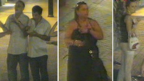CCTV images of four people