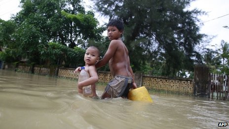 The affected Irrawaddy Delta region was also hit with a devastating cyclone in 2008