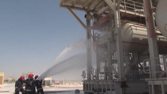 Firecrews training in Qatar