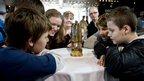Children with lantern at Titanic Belfast
