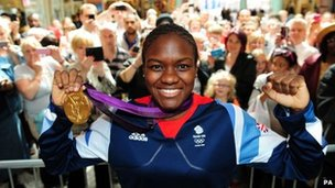 Nicola Adams in Leeds