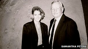 Samantha Peters with Neil Armstrong