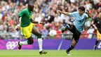 Mohamed Diame in action for Senegal against Uruguay in the London 2012 Olympic football tournament.