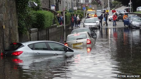 Flooding in Aberdeen