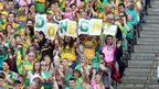 Donegal fans were in buoyant mood as they watched their team beat Cork 0-16 to 1-11 in the semi-final of the All-Ireland Football Championship.