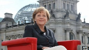 Chancellor Angela Merkel in TV interview in Berlin, 26 Aug 12